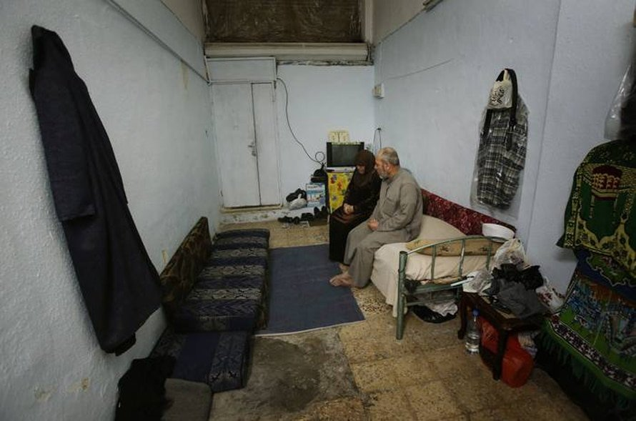 Syrian refugees living in a former shop storeroom, Zarqa / Photo HH