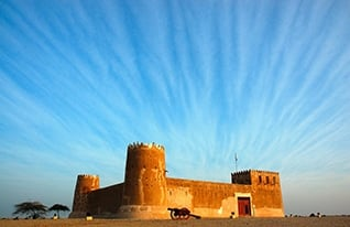 The rebuilt 18th century fort of al-Zubara