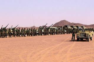 Polisario troops