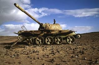 بقايا دبابة مغربية