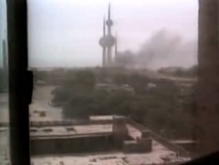 The Iraqi attack on Kuwait City as seen on tv