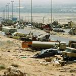 The Kuwait-Iraqi highway after the Iraqi defeat