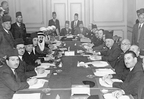 Meeting of Arab officials in 1944