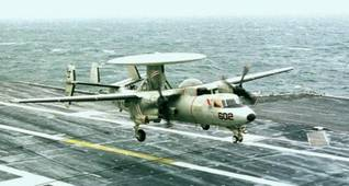 The E-2C Hawkeye radar airplane