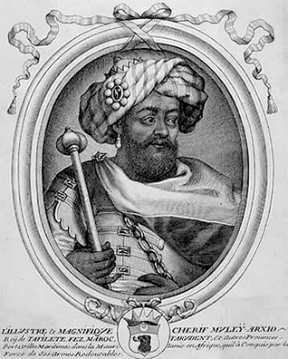 Engraving of Moulay al-Rashid (r. 1666-1672)