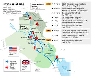 Map of the Invasion of Iraq