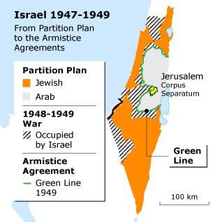 Map Israel 1947-1949