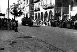 Armoured vehicle in the streets of Port Said, 1956 / Photo HH