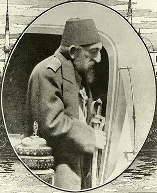 السلطان عبد الحميد الثاني في أواخر أيامه