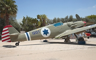 The Avia S-199 airplane, at the Heyl ha-Avir Museum, in Hatzerim, Israel