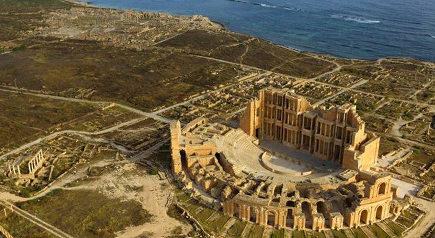 Libya Economy - Tourism ruins Roman sabratha