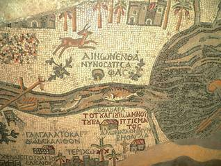 The oldest mosaic map of the Holy Land, 6th century CE