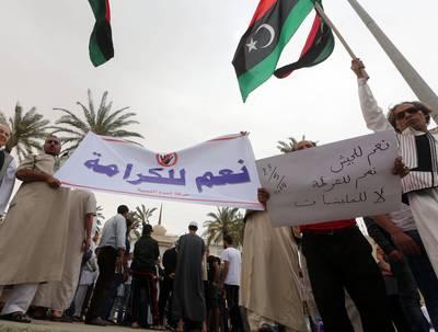Demonstration supporting Khalifa Haftar, Tripoli, 23 May 2014 / Photo HH
