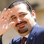 Former Prime Minister Saad Hariri, son of Rafiq Hariri, leader of the (Sunni) Future Movement