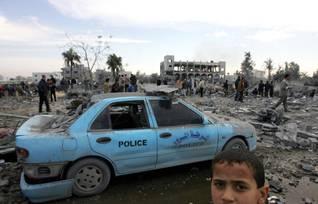 Israeli attacks on Gaza in December 2008 Photo UPI/HH