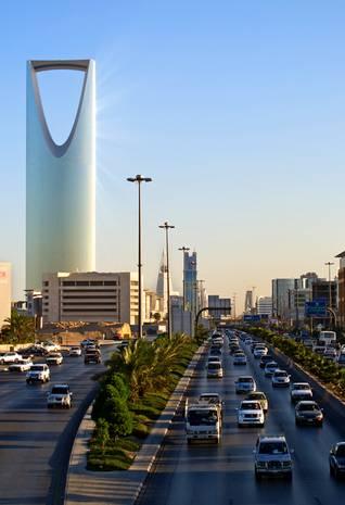 Kingdom Tower in Riyadh saudi arabia urbanization