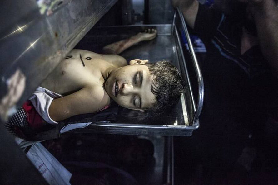 According to the United Nations, more than 452 children are killed by Israel during the war on Hamas in 2014 / Photo by CORBIS