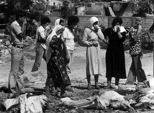 After the Sabra and Shatila massacre in September 1982 / Photo Magnum/HH