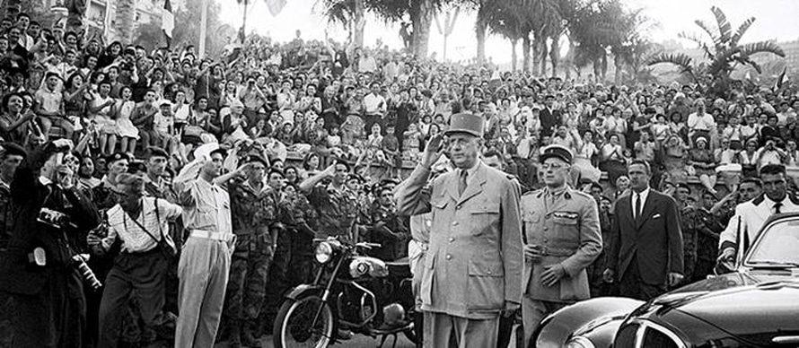 الرئيس الفرنسي شارل ديغول في الجزائر في 4 يونيو 1958 / Photo HH