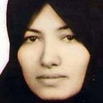 Sakineh Mohammadi Ashtiani, sentenced to death by stoning, later suspended and changed to death by hanging, convicted for adultery, charges included murder, manslaughter, conspiracy and complicity