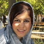 Nasim Soltan Beigi, student activist, convicted to serve six years in prison, in August 2012