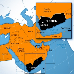 Map Republic of Yemen