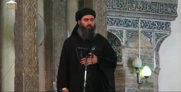 Abu Bakr al-Baghdadi made his first public appearance from a mosque in Mosul, 5 July 2014