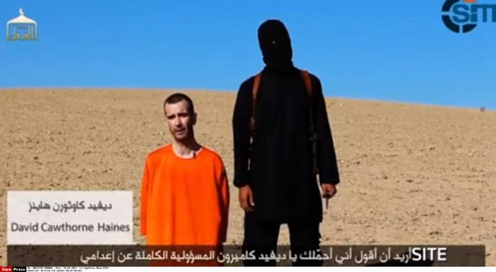 Islamic State militants fighting in Iraq and Syria released a video on 13 September 2014 which purported to show the beheading of British aid worker David Haines / Source: SIPA Press