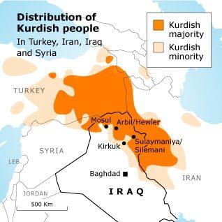 Iraq Kurdistan Map