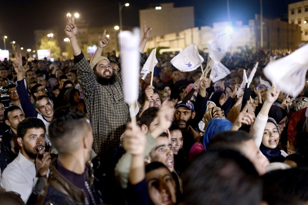 Supporters of the Justice and Development Party during a rally in September 2012 / Photo Panos Pictures