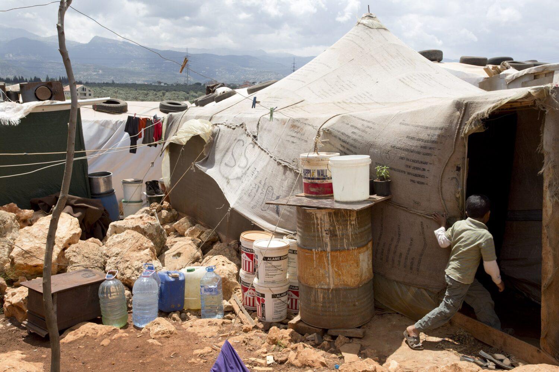 Syrian refugees Kafar Kahel Lebanon