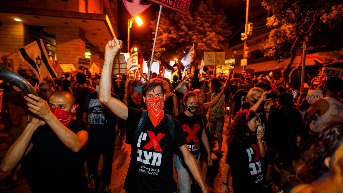 What happened to the popular protests against Netanyahu and his government in Israel?