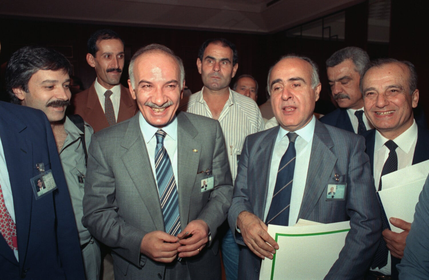 Signing of the Taif Agreement by the Lebanese parliament on 22 October 1989