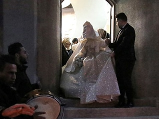 Marriage ceremony in Gaza