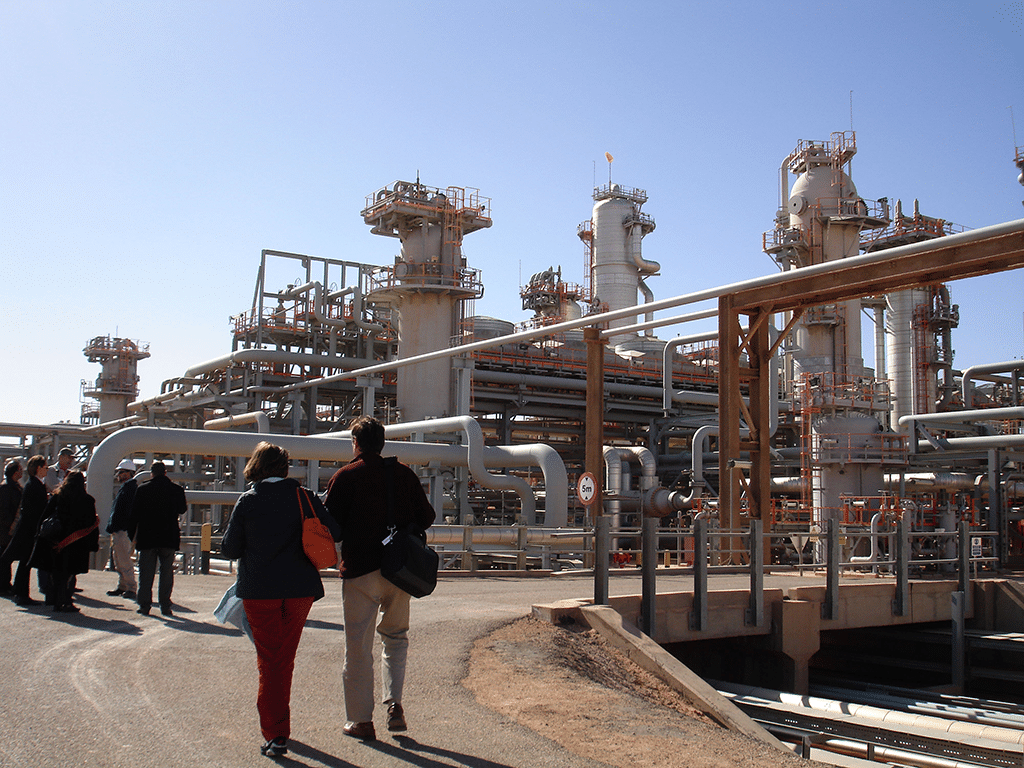 Economy Algeria - The In Salah oil and gas fields