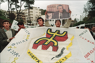 Demonstrations for the recognition of Berber identity, December 1990