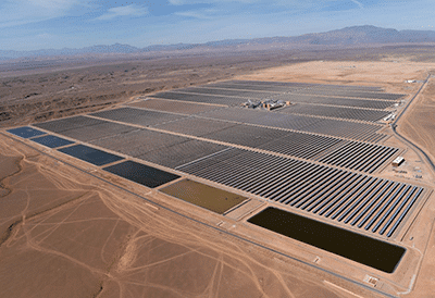 The new solar multiple power station plant, called Noor (light)