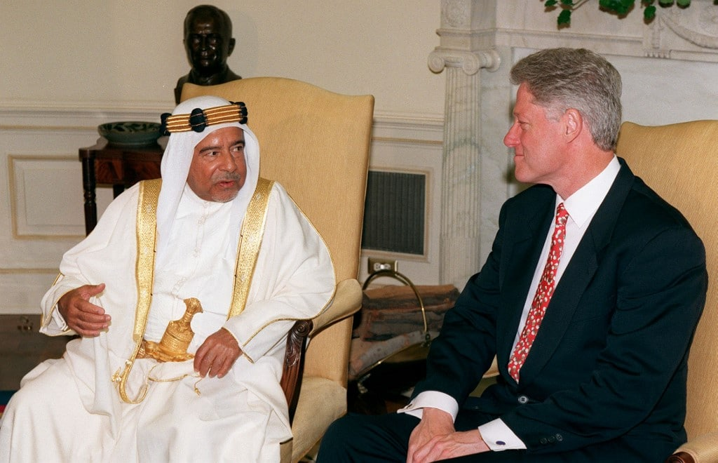 الأمير عيسى و الرئيس كلينتون