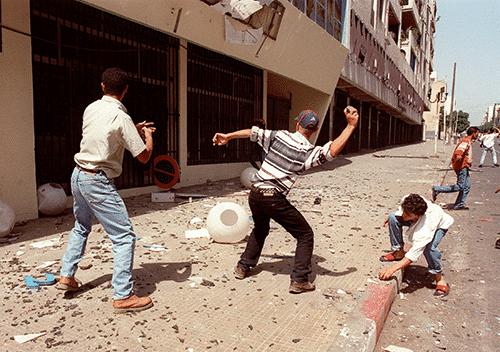 Street riots, 1990s Kabyle Algeria