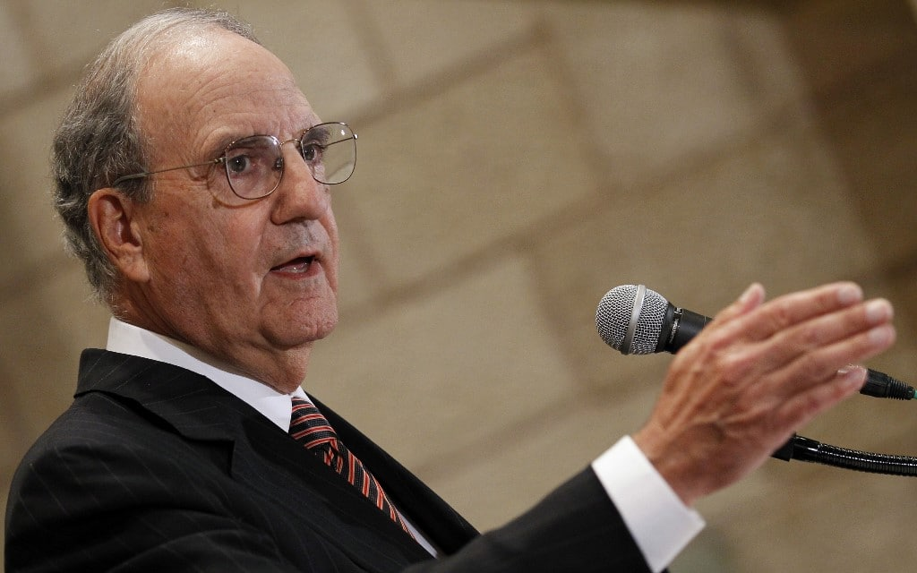 US Middle East Peace Special Envoy George Mitchell