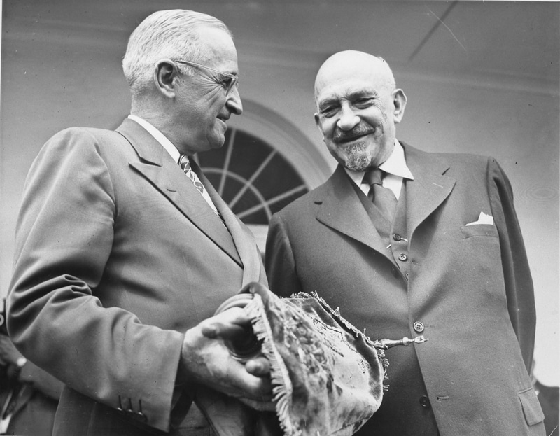President Harry S. Truman and Israeli President Chaim Weizmann