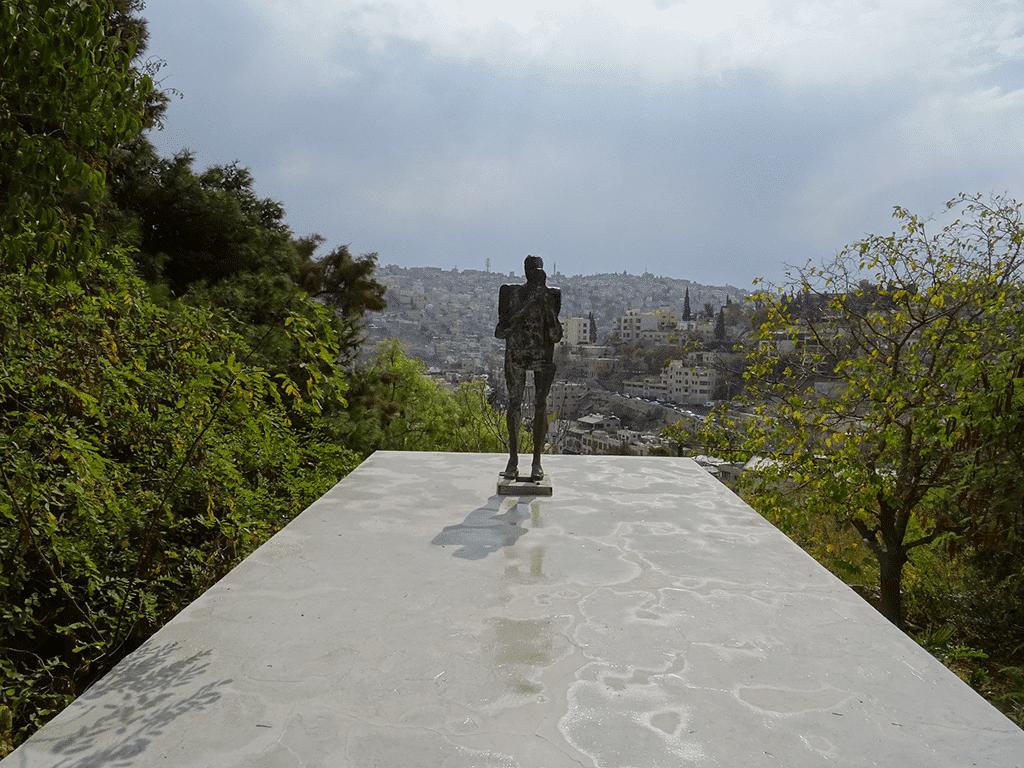 Modern sculpture by Johanna Mifsud, in Darat al-Funun, the Khalid Shoman Foundation gardens, in Amman