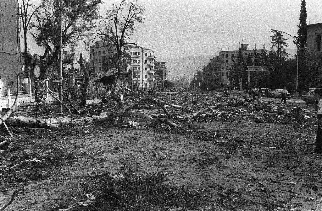 Destruction in Beirut