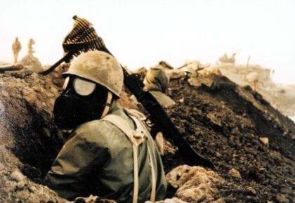 Iranian soldier during the Iran-Iraq War