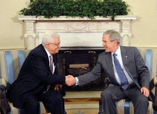 George W. Bush meets PNA President Mahmoud Abbas in Washington D.C.