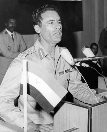Leader of the 1969 coup, captain Muammar Gaddafi Libya history