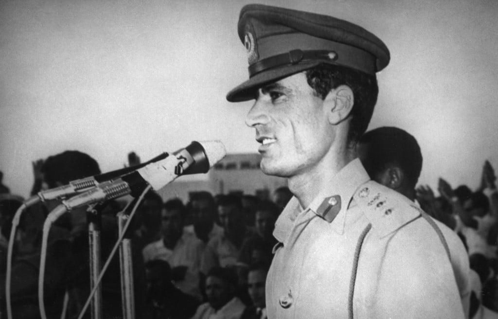 المقدم معمر القذافي عام 1969 التاريخ ليبيا
