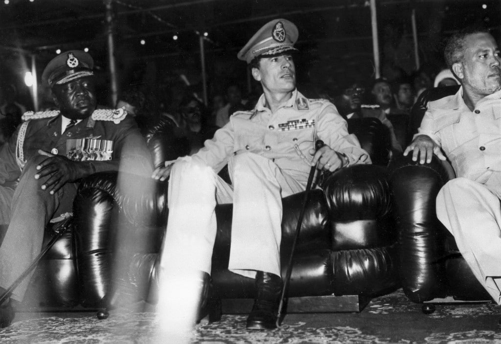 Colonel Muammar Gaddafi in the 1970s Libya history
