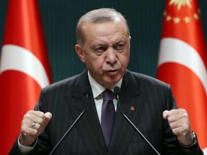 erdogan speaking in conference
