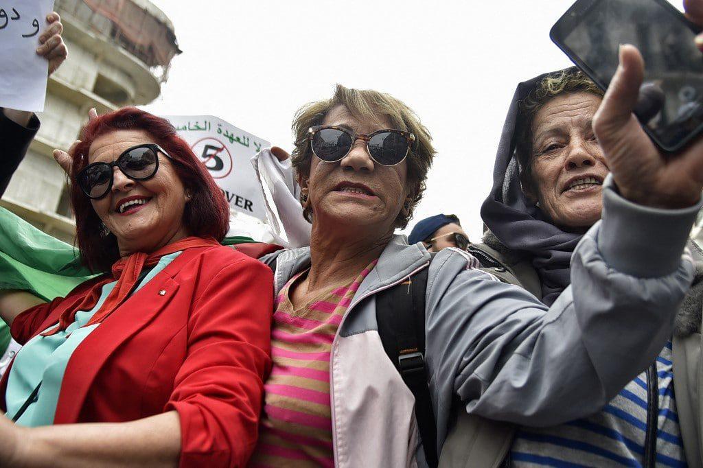 Algerian protests, feminists